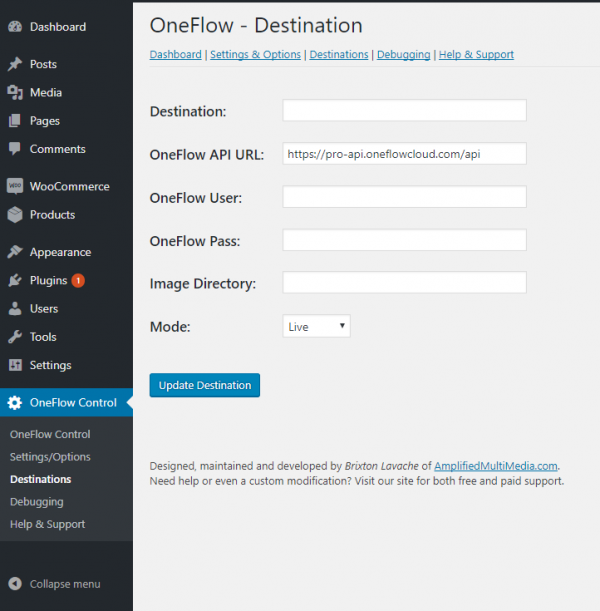 WordPress WooCommerce to OneFlow API Plugin